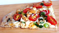 SANDRA'S EASY COOKING: Homemade Whole Wheat Pizza with Tyson Grilled Chicken
