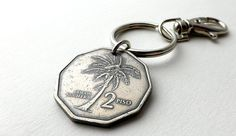 Philippine Coin keychain Coconut Men's accessory by CoinStories