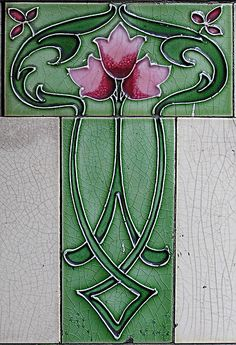 Art Nouveau Tile ~it's a small world. We just had a client send us this pattern asking if we could use this design as inspiration for her custom tile!