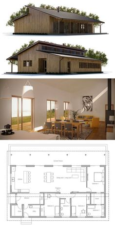 Modular Home Plan, Shipping container house plan, prefab house design, interior deco Modern House Plans, Small House Plans, House Floor Plans, Modular Home Plans, Barn Home Plans, Small Contemporary House Plans, Modern Wood House, Small Modern Cabin, Cabin House Plans