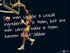 Great quote from Kareem Abdul-Jabbar