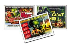 Vintage Science Fiction Horror Movie Posters  by VintageArtMasters