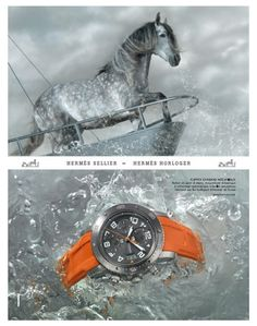 Hermes Timepieces 2010 advert campaign  (http://vivrearia.blogspot.com/2010/07/hermes-timepieces-2010-ad-campaign.html) #horse #animal #creature #equine #life #watch #advertising #hermes #time