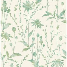 56.4 sq. ft. Aerides Green Meadow Wallpaper