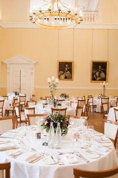 Cara and James' real life #wedding at Farnham Castle - The table centrepieces | CHWV