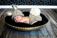 Crochet Baby Bunny Hat Newborn Crochet Hat $35.00