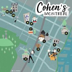 Leonard Cohen's Montreal, an illustrated map
