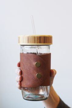 MBC Bamboo Lid + Glass Straw + Jar – themasonbarcompany