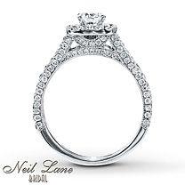 1 ¾ ct tw Diamond Bridal Set Round-Cut 14K White Gold