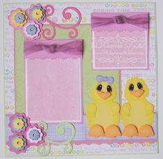 Easter Chicks Scrapbook Page