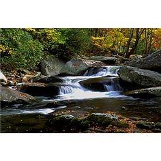Trademark Fine Art 'Little River Elkmont' Canvas Art by J. Mcfarlan, Size: 35 x 47 Artist Canvas, Canvas Art, Canvas Prints, Photography Institute, Tallit, Little River, Art Themes, Outdoor Lounge, Outdoor Entertaining