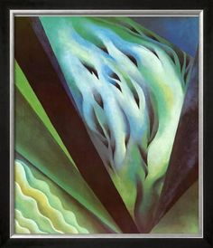 Framed Georgia O/'Keeffe Red Cannas Giclee Canvas Print Paintings Poster