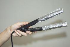 Tratamiento con papel de aluminio, la salvación para cabellos extremadamente maltratados   Mujer Chic