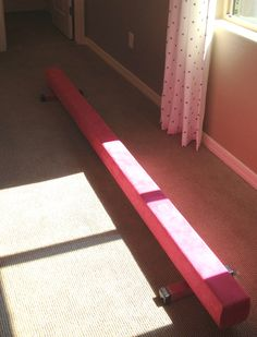 no gymnast's room would be complete without it's own balance beam