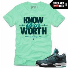 0a466be3d2e Jordan 4 teal shirts to match teal 4s online shopping streetwear Newest  Jordans, Tees,
