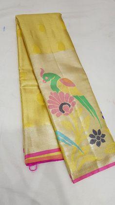 Yellow kanchivarum silk Whatsapp: +91 7019277192 Latest Silk Sarees, Silk Sarees Online, Pure Silk Sarees, Silk Saree Kanchipuram, Kanjivaram Sarees, Ethnic Sarees, Indian Sarees, Saree Trends, Indian Jewellery Design