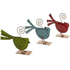 Bird Photo Holders- Pier One- kitchen- could use one as recipe card holder