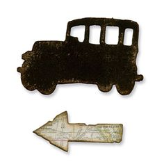 Sizzix Movers & Shapers Magnetic Die Set 2PK - Mini Old Jalopy & Arrow Set $15.99