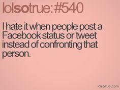passive agressive status updates-not coooool