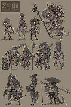 Druid Character Concepts by ElBrazo on deviantART