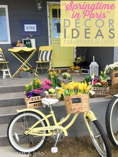 Springtime in Paris French Decor Ideas at Tatertots and Jello #MichaelsMakers (WIN a TRIP to Paris too!)