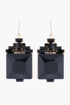 MARNI Black Gemtsone & Crystal Earrings