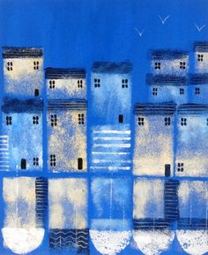 Buy Harbour Cottages 2 - Commission for JoAnn, Acrylic painting by JAN RIPPINGHAM on Artfinder. Discover thousands of other original paintings, prints, sculptures and photography from independent artists.
