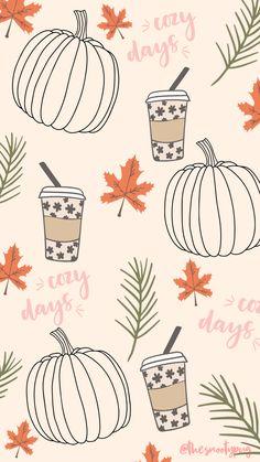 Wallpaper Free, Cute Fall Wallpaper, Iphone Wallpaper Fall, Holiday Wallpaper, Halloween Wallpaper Iphone, Cute Patterns Wallpaper, Iphone Background Wallpaper, Halloween Backgrounds, Cute Wallpaper Backgrounds