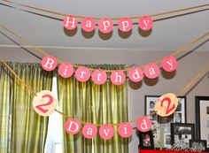 happy birthday banner with straw details