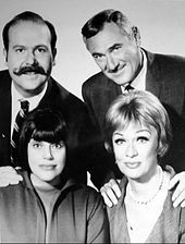 The Mothers-in-Law is an American sitcom starring Eve Arden and Kaye Ballard as two matriarchs who were friends and next-door neighbors whose children's elopement rendered them in-laws. The show aired on NBC from September 1967 to April 1969. Produced by Desi Arnaz, the series was created by Bob Carroll, Jr., and Madelyn Davis.