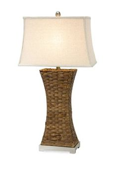 Lugano Woven Natural Table Lamp for  Beach theme room