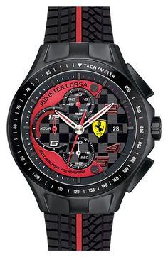 Ferrari Online Store: Apparel, accessories and merchandise by Ferrari. Enter the Official Ferrari Online Store and shop securely! Amazing Watches, Beautiful Watches, Cool Watches, Retro Watches, Dream Watches, Sport Watches, Ferrari Watch, Men's Accessories, Ferrari Scuderia