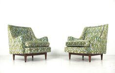 KIPP STEWART Mid Century Modern DREXEL DECLARATION Pair 2 Lounge Chair | eBay
