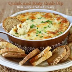 EASY AND QUICK CRAB DIP.....  Love, love how easy this crab dip is to make and it tastes great too! It only uses 5 ingredients!!! That's right, 2 crab cakes, cream cheese, sour cream, mayonnaise and pepperjack cheese. It can be ready in about 20 minutes once you mix it up. Mix it up earlier in the day and just put it in the oven when needed.