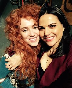 Amy Manson / Merida and Lana Parrilla / Regina 🏹 Regina Mills, Best Tv Shows, Best Shows Ever, Once Upon A Time, Access Hollywood, Ouat Cast, Outlaw Queen, Jennifer Morrison, Captain Swan