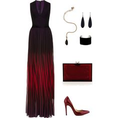Cherry Red by riz-ph on Polyvore featuring Elie Saab, Charlotte Olympia, IaM by Ileana Makri and Alexis Bittar