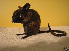 PAUL JENKINS SOLID BRONZE MOUSE SCULPTURE NEW   eBay Eek A Mouse, Pocket Pet, Antique Shops, Mice, Bronze, Pets, Antiques, Amazing, House