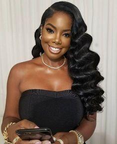 Black Brides Hairstyles, Black Bridesmaids Hairstyles, Bride Hairstyles, Wig Hairstyles, Wedding Hairstyles Natural Hair, Hollywood Hairstyles, Loose Curls Hairstyles, Men's Hairstyle, Homecoming Hairstyles