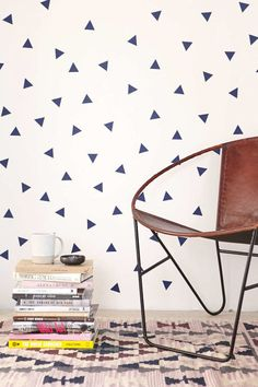 If your landlord nixes your accent wall idea, stick it to them with this cheerful set of triangle decals. For $12 you get a set of 68 totally temporary stickers, and a greater chance of getting your security deposit back on move-out day!