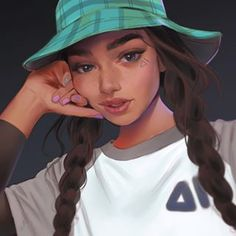 Not sure why but I'm starting to really enjoy drawing again. Missed that feeling for too long. Anyways here's a fun piece from last night. Thought I'd paint on a dark background for a change. Ref by Link to my custom brushes is in my bio! Cute Cartoon Girl, Cartoon Girl Drawing, Kpop Drawing, Art Anime Fille, Anime Art Girl, Digital Art Girl, Digital Portrait, Photo Portrait, Portrait Art
