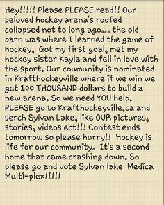 Hockey!! :) i need your help peeps!?