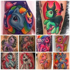 My Little Pony tattoos by Michelle Maddison