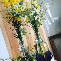 Wildflowers of the field behind the house, (glass bottles 30 CZK)