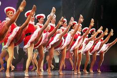 Show performers such as the Rockettes need to be in Goddess shape...Just look at those legggs!