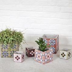 Beautiful for indoor plants - Des cache-pots à motif carreaux de ciment, Serax