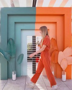 we tried this hoping my jumpsuit would turn blue when i got to the other side 🙃 wrapped up this installation in san diego last night before… Architecture Restaurant, Turn Blue, Inspiration Design, Color Stories, Photoshoot Inspiration, Color Pallets, Pantone Color, Colour Schemes, Decoration