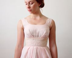 50s dress  1950's pink party dress by Thrush on Etsy, $160.00