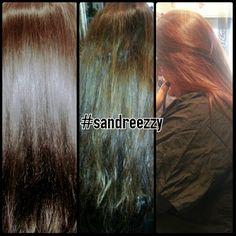 Red hair color #sandreezzy #hairninja #salon2324