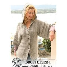 Ladies' Jacket with Cables and Hood - free pattern