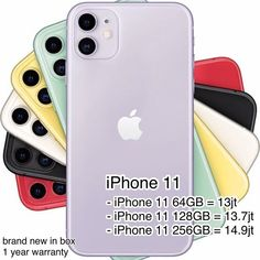 iPhone 11 Avalilable Black Green Yellow Purple Red and White - iPhone 11 = - iPhone 11 = - iPhone 11 = Call / WA 0812 6875 9975 White Iphone, Red And White, Black, Iphone 11, Yellow, Purple, Green, Black People, Viola